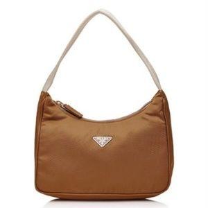 NWT Prada MV515 Hobo Handbag in rare Nocciola Sale